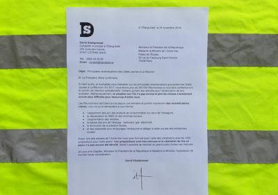 Courrier : principales revendications des Gilets Jaunes à La Réunion